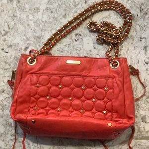 Rebecca minkoff red studded purse